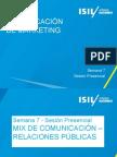Com de MKT - 2014-1 - Semana 7 - SP - Mix de Comunicacion - las Relaciones Públicas.pptx