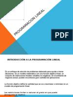 Programacion Lineal Trabajo de Agreda 2015