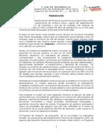 Plan de Desarrollo 2012 2015 Proyecto de Acuerdo