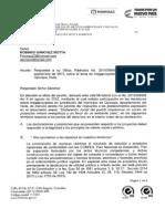 [ @MinMinas] Oficio de respuesta. Derechos de Petición Proyecto Hidroeléctrico Oporapa.