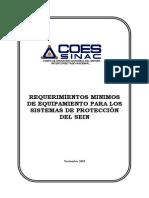Req. Min. Equipamiento de Sistemas de Proteccion SEIN