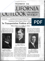 1911 California Outlook Arnold Transportation Problem Los Angeles 1