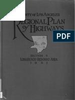 1931 County Los Angeles Regional Plan Highways Sec4 Long Beach Redondo Area
