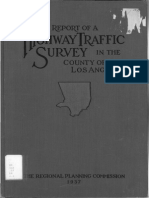 1937 Report Highway Traffic Survey County Los Angeles