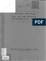 1939 Transit Program Los Angeles Metropolitan Area