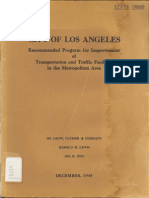 1945 La Recommended Program Improvement Transportation Traffic Facilities