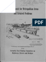 1949 Rapid Transit Metropolitan Areas Related Problems