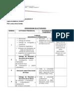 Cronograma de Actividades de Trabajo Comunitario II. 2015-2016