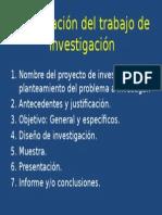 Presentación Del Trabajo de Investigación
