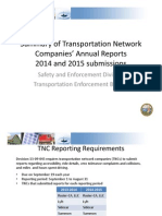 CPUC Report on Transit Network Companies