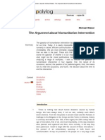 Polylog _ Themes _ Aspects _ Michael Walzer_ the Argument About Humanitarian Intervention