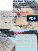 Trabajo Final Ingeniería Civil. Taludes 2015