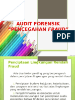 Audit Forensik - Pencegahan Fraud