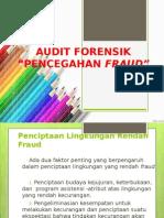 Audit Forensik - Pencegahan Fraud