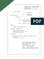 Camden County Superior Court Grand Jury Transcript Against Bruce Aristeo