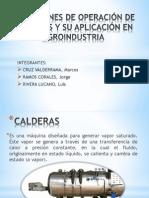 Condiciones de Operación de Calderas y Su Aplicación