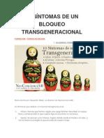 10 Síntomas de Un Bloqueo Transgeneracional