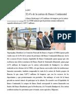 Banrural Adquiere 32.6% de La Cartera de Banco Continental