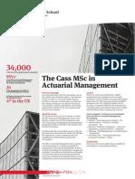 MSc Factsheet Actuarial Management