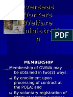 OWWA Programs & Services Latest as of Jan 2011