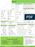 Mathematics TRIGONOMETRY CHEATSHEET