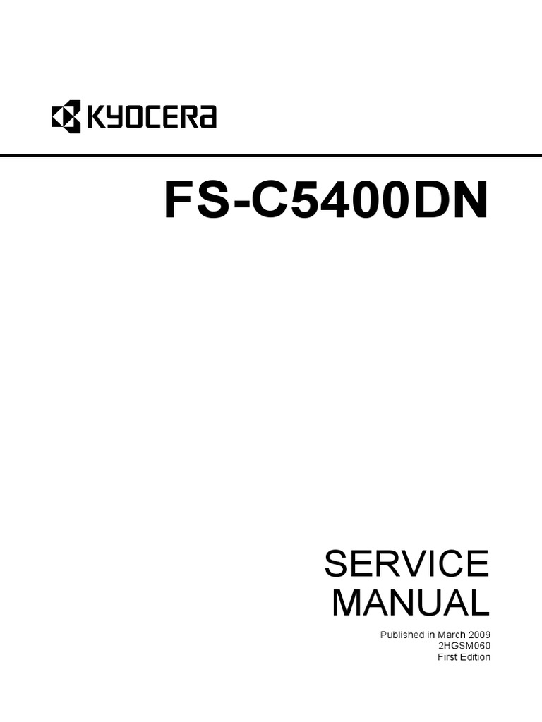 kyocera fs c5400dn service manual parts list