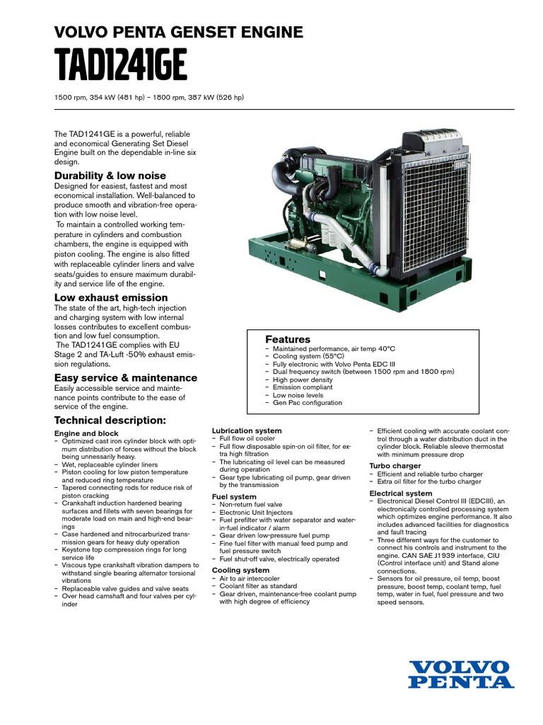tad1241ge 1 cylinder engine turbocharger rh scribd com