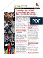 7 questions any civilized  person should ask Hasina  Government in Bangladesh