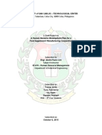 Human Resource Development Plan for Food Supplement Manufacturing company