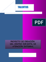 Proyecto Guardería Cuna Talentus