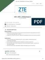 GSM - UMTS - LTE BoQ Engineer _ PT ZTE Indonesia - Pekerjaan