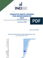 PBI 2014 Departamentos