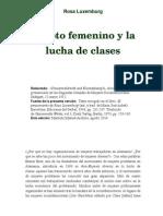 Rosa Luxemburg El Voto Femenino y La Lucha de Clases