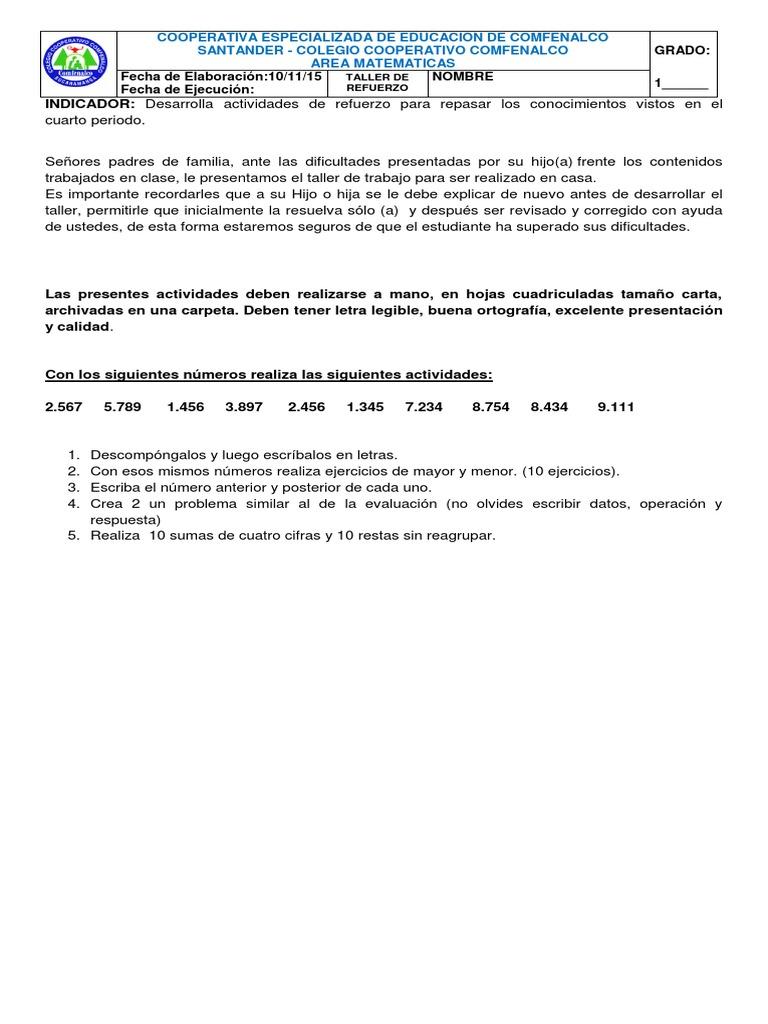 Perfecto Hojas De Trabajo De Matemáticas Resta De Reagrupamiento ...