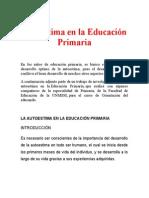 1. Autoestima en La Educación Primaria 1