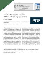 POEM y Cirugía Endoscópica en Acalasia