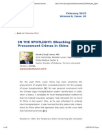 In the SPOTLIGHT_ Bleaching Organ Procurement Crimbes in China, By Jacob Lavee