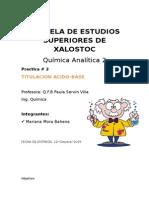 Practica quimica analitica