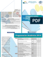 2014 Diptico Fundacion 3er Trimestre Programacion Academica(1)