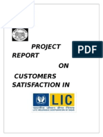 Customer Satisfaction in LIC