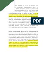Domingo Faustino Sarmiento Es Una de Las Personas Más Destacadas de La Historia y de La Literatura Argentina