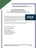 Formulae for Engineering Economy