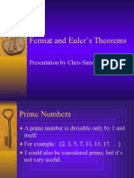 Fermat and Euler Theorems