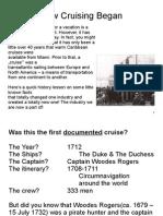 Cruise History