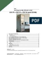 System Description CS114 115 116 Test Setup V40