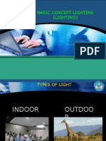 memahami cara penggunaan peralatan tata cahaya