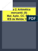 Tema 2. Aritmética mercantil (2)