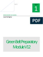 Benchmark Six Sigma Green Belt Preparatory Module V12.1
