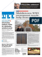 Asbury Park Press front page Wednesday, Nov. 11 2015