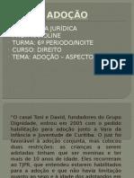ADOÇÃO ASPECTOS SOCIAIS